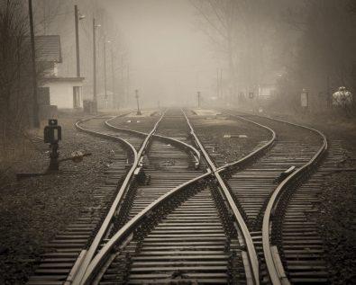 Tåke og jernbanespor2