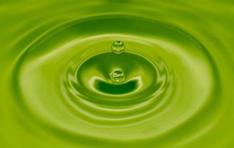 Grønn vanndråpe